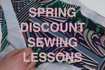 Spring Discount Sewing Lessons